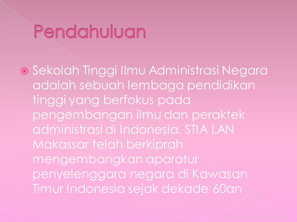  Sekolah Tinggi Ilmu Administrasi Negara adalah sebuah lembaga pendidikan tinggi yang berfokus pada pengembangan ilmu dan peraktek administrasi di Indonesia.