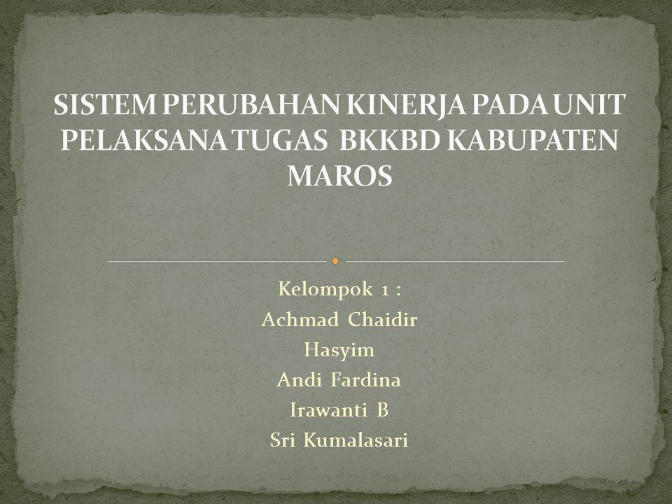 Kelompok 1 : Achmad Chaidir Hasyim Andi Fardina Irawanti B Sri Kumalasari