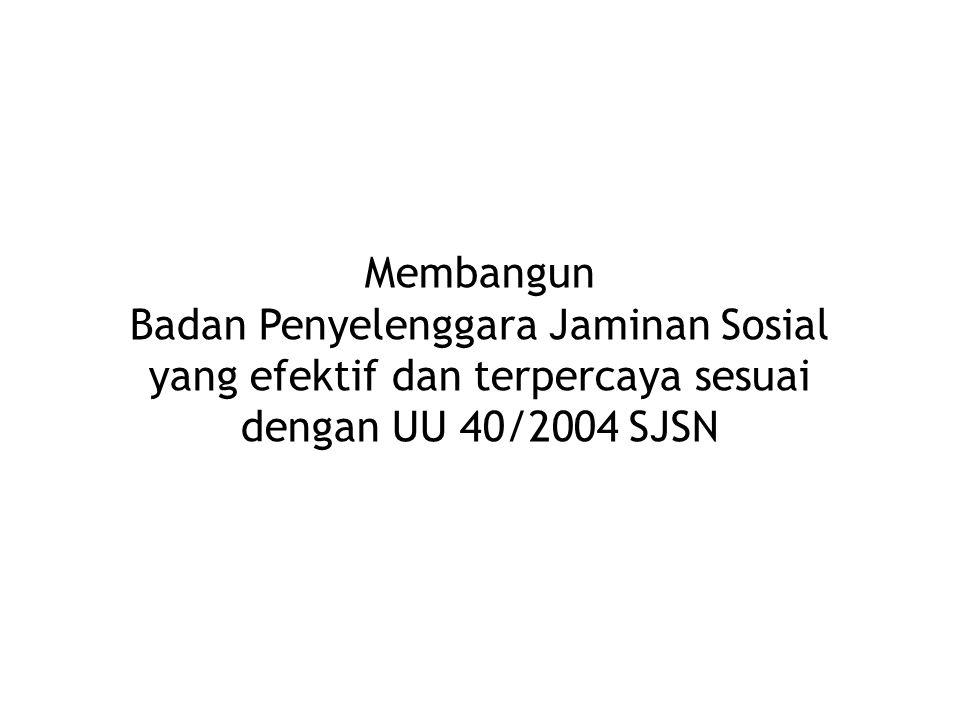 9 Prinsip Penyelenggaraan Jaminan Sosial di Indonesia sesuai UU 40/2004 SJSN Prinsip Asuransi Sosial: 1.Gotong Royong.