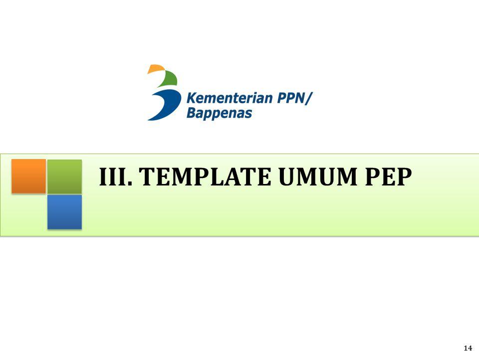 III. TEMPLATE UMUM PEP 14
