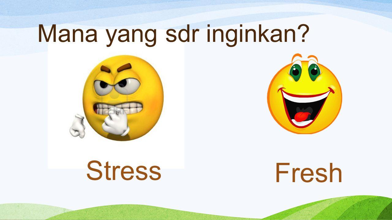Mana yang sdr inginkan? Stress Fresh