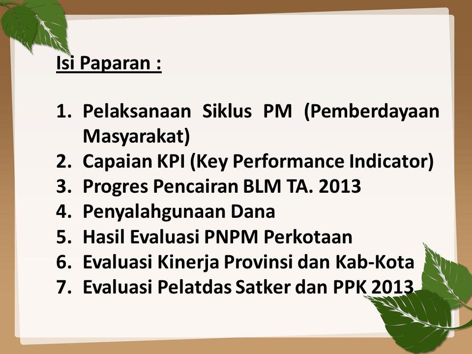 AUDIT INDEPENDENT KEUANGAN BKM TAHUN BUKU 2012 Sumber : SIM P2KP_19 Juni 2013 Kel/Desa yang sudah selesai melakukan audit sebanyak 2.330 Kel dari 10.923 Kel (21 %) Data detil per Provinsi terlampir Click