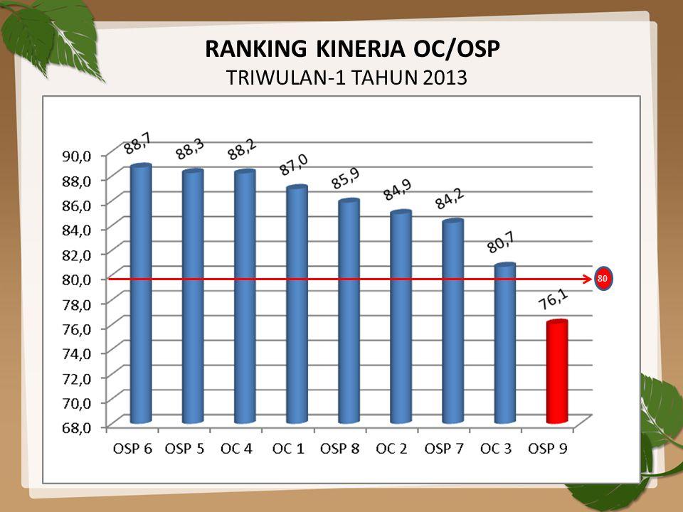 RANKING KINERJA OC/OSP TRIWULAN-1 TAHUN 2013 80