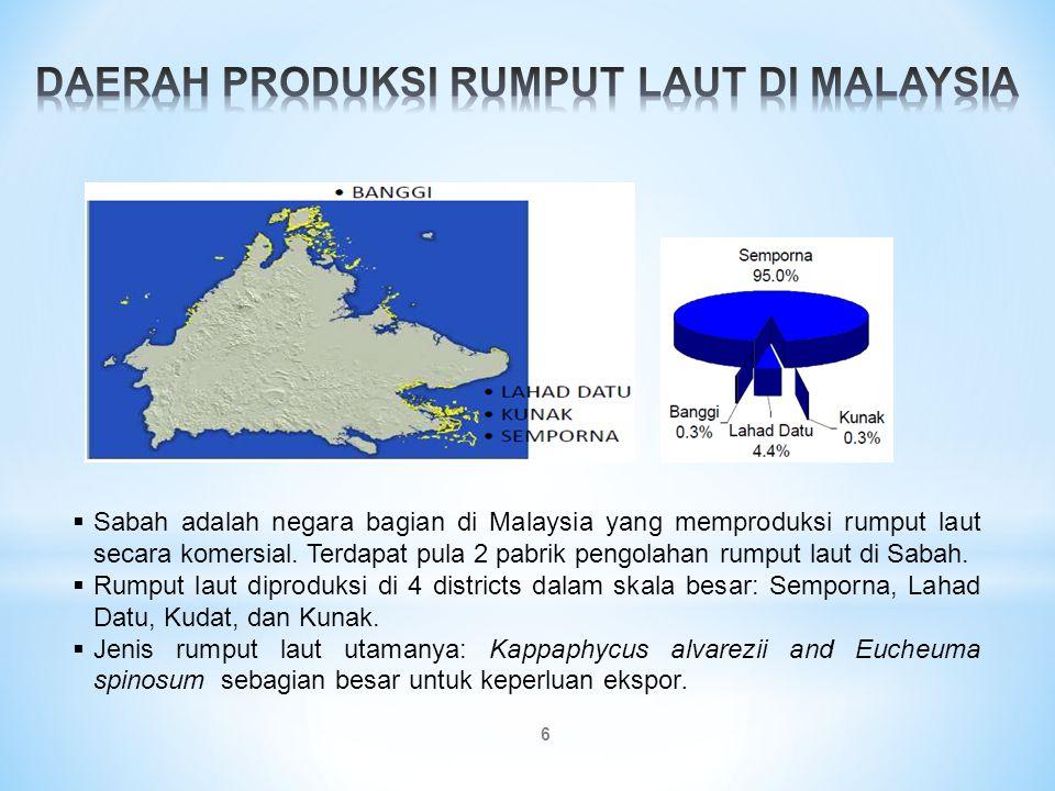 7 Rumput laut dan produk berbahan dasar rumput laut yang akan masuk ke Malaysia harus memiliki Certificate of Analysis (parameter of inorganic arsenic) yang dikeluarkan oleh laboratorium yang terakrediatasi dari otoritas yang kompeten dari negara pengekspor.