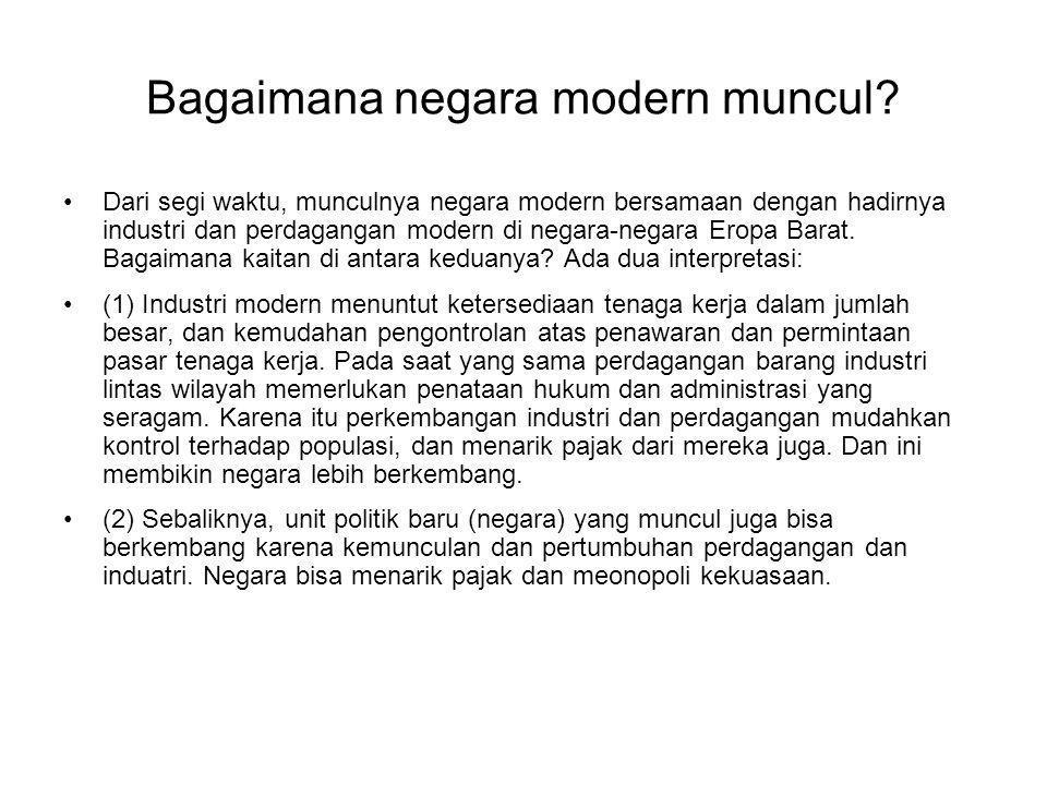 Bagaimana negara modern muncul.