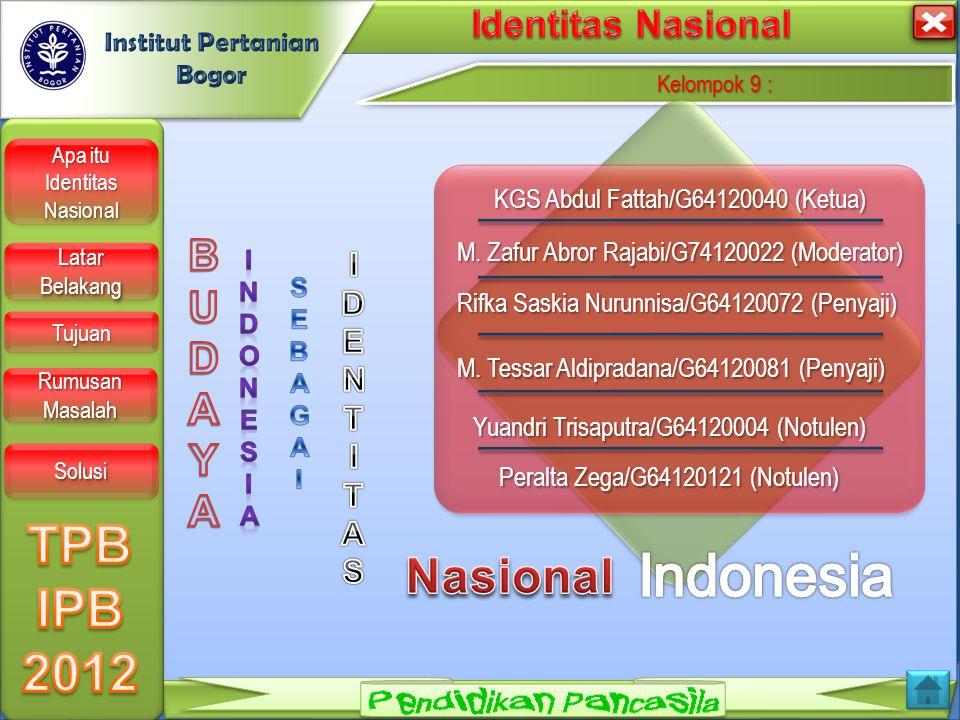 LOGO Kelompok 9 : Kelompok 9 : Kelompok 9 : Kelompok 9 : KGS Abdul Fattah/G64120040 (Ketua) KGS Abdul Fattah/G64120040 (Ketua) M.