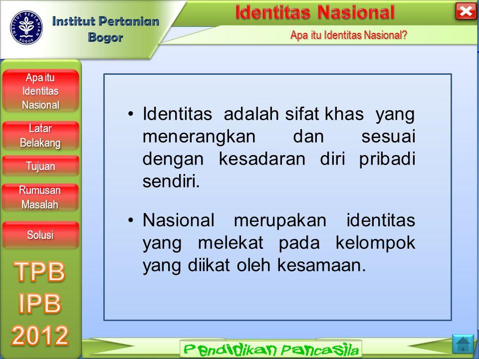 LOGO Apa itu Identitas Nasional.Apa itu Identitas Nasional.