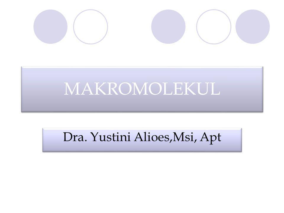 MAKROMOLEKUL Dra. Yustini Alioes,Msi, Apt