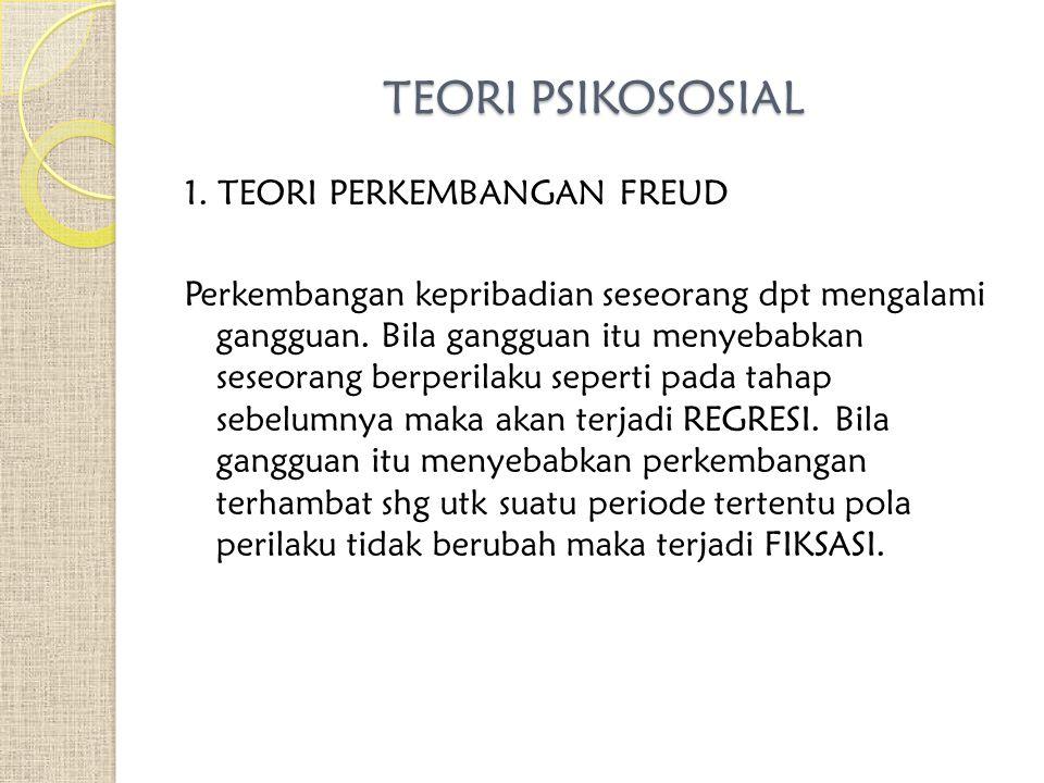 TEORI PSIKOSOSIAL 1.