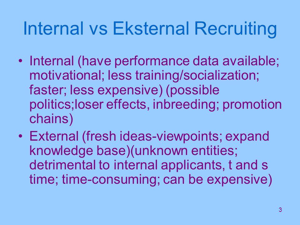 14 Recruiters 2 Perekrut harus bisa melakukan beberapa hal –realistic job previews-menjelaskan kondisi sebenarnya organisasi, –career development opportunities- perusahaan harus memberikan penjelasan mengenai kesempatan berkarir bagi calon pelamar.