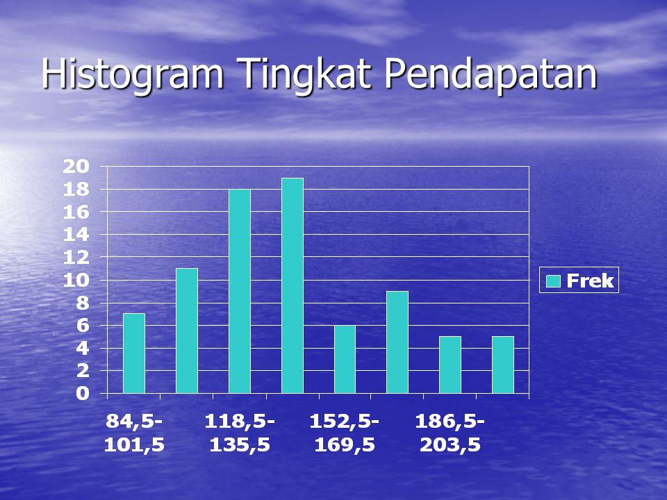 Histogram Tingkat Pendapatan