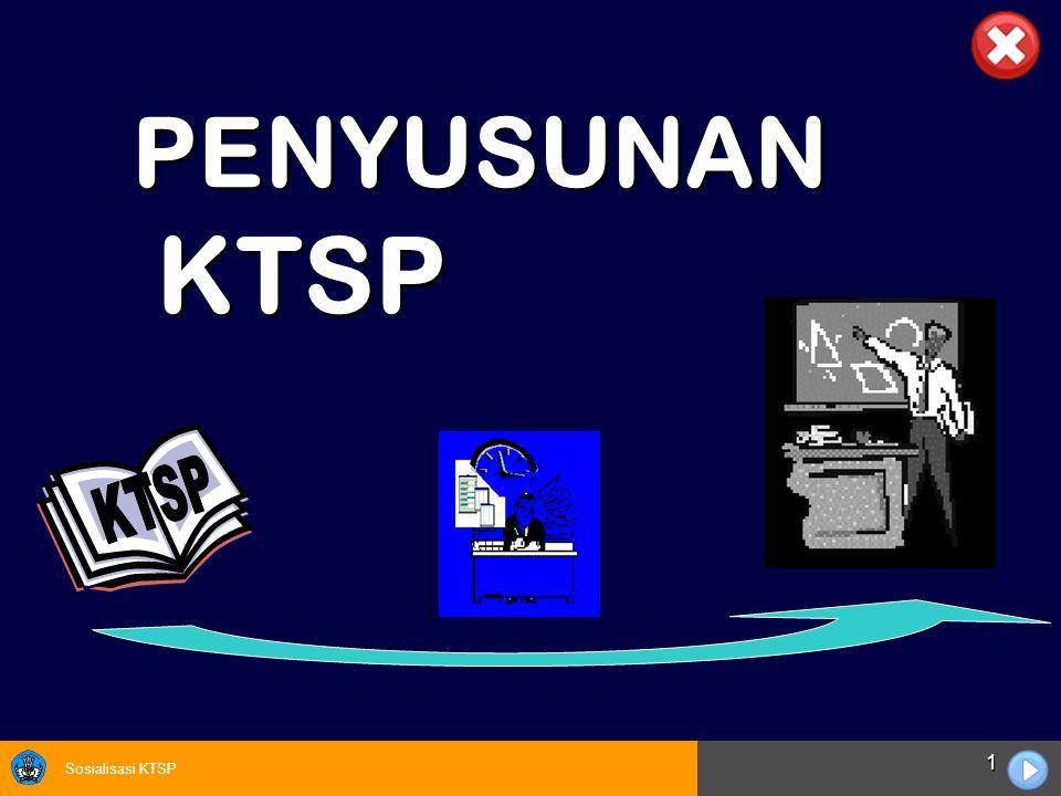 Sosialisasi KTSP 32  Sekolah harus menyusun SK, KD dan Silabus untuk Mata pelajaran Mulok yang diselenggarakan oleh sekolah.
