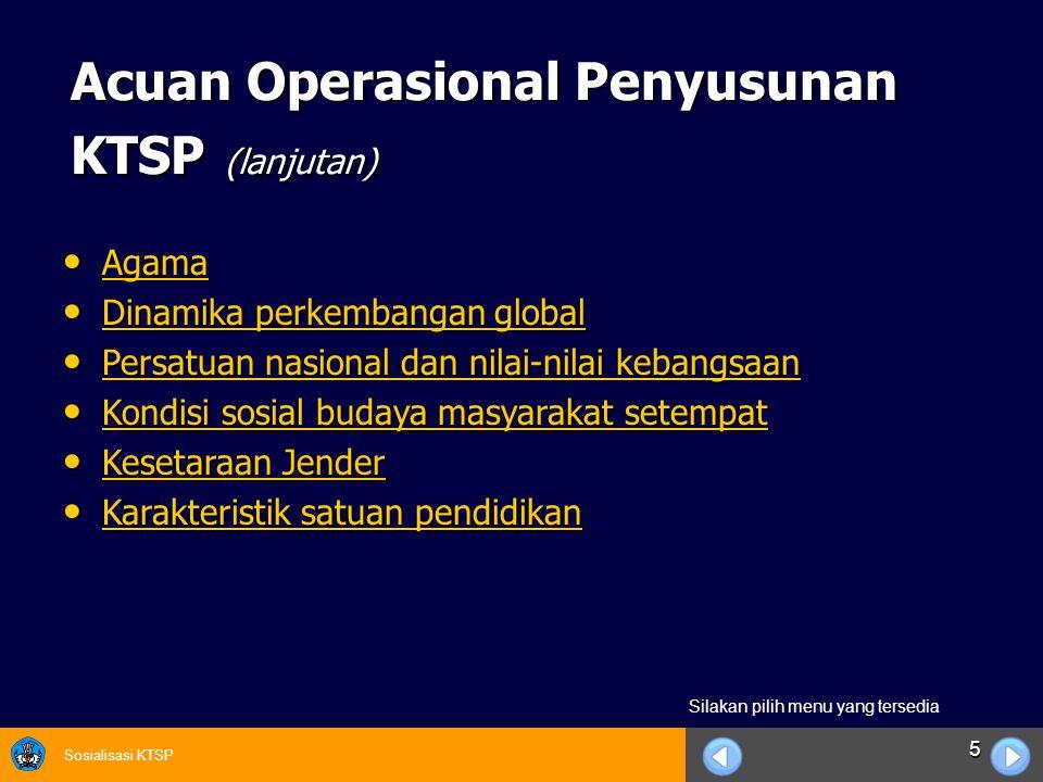 Sosialisasi KTSP 26 BAB III STRUKTUR DAN MUATAN KTSP Meliputi Sub Komponen: Meliputi Sub Komponen: 1.