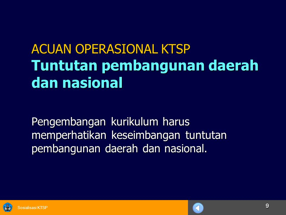 Sosialisasi KTSP 20 KTSP DOKUMEN 1  BAB I.Pendahuluan  BAB II.