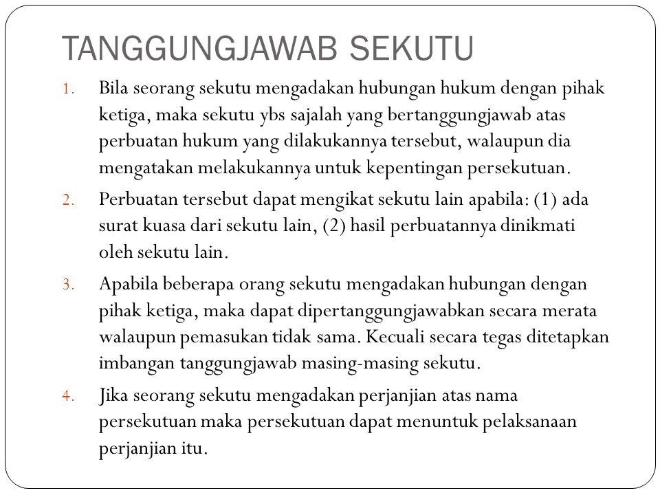 TANGGUNGJAWAB SEKUTU 1.