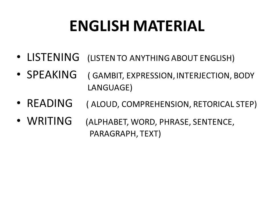WRITING ALPHABET ( O, I, CETAK, LATIN, BALOK) PUNCTUATION (,.