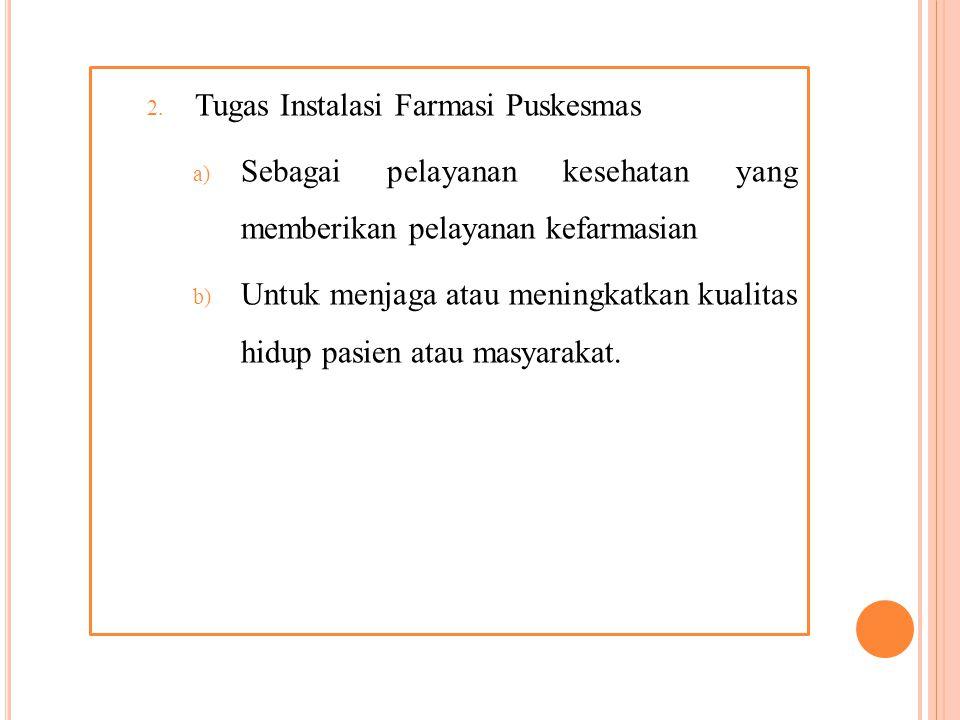 BAB II GAMBARAN UMUM PUSKESMAS PRINGGARATA A. Tinjauan perusahaan 1. Instalasi puskesmas merupakan unit pelaksanaan fungsional yang bertanggung jawab