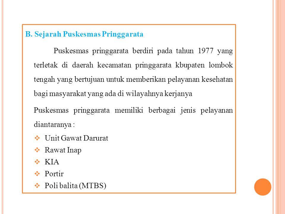 2. Tugas Instalasi Farmasi Puskesmas a) Sebagai pelayanan kesehatan yang memberikan pelayanan kefarmasian b) Untuk menjaga atau meningkatkan kualitas