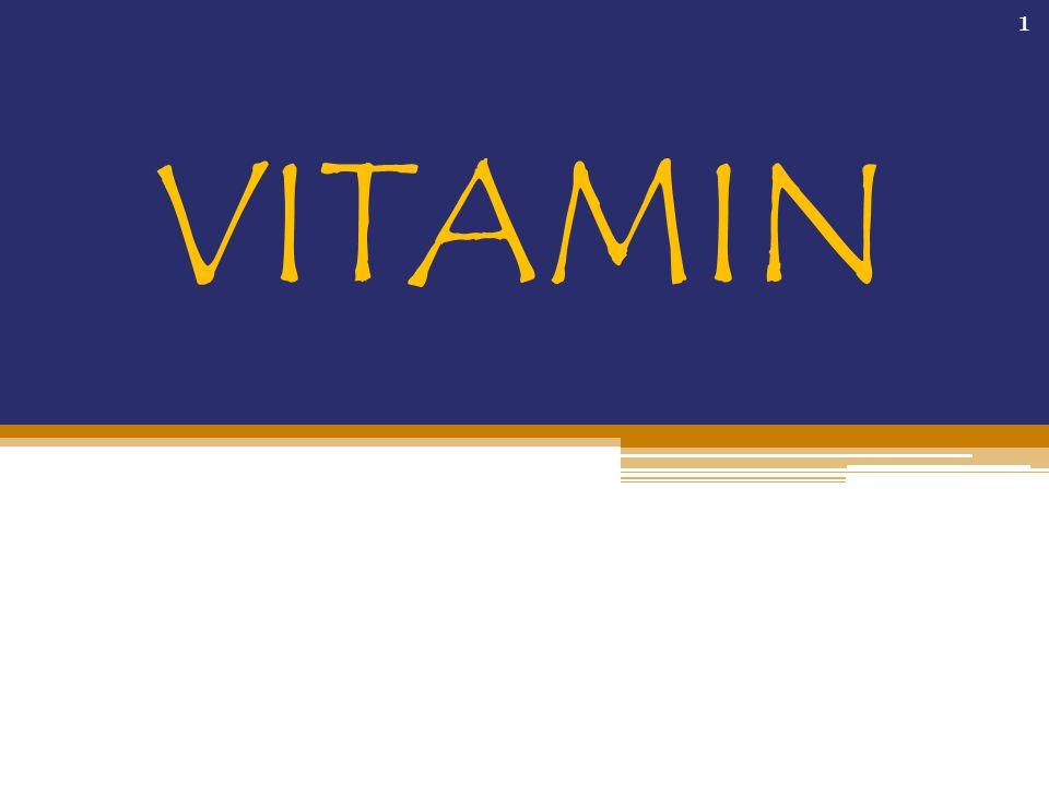 PENDAHULUAN Vitamin merupkana komponen minor tetapi penting bagi bahan pangan Vitamin dibutuhkan untukpertumbuhan yang normal, memelihara, dan menjaga fungsi tubuh Mempertahankan vitamin selama pengolahan dan penyimpanan merupakan hal yang penting 2