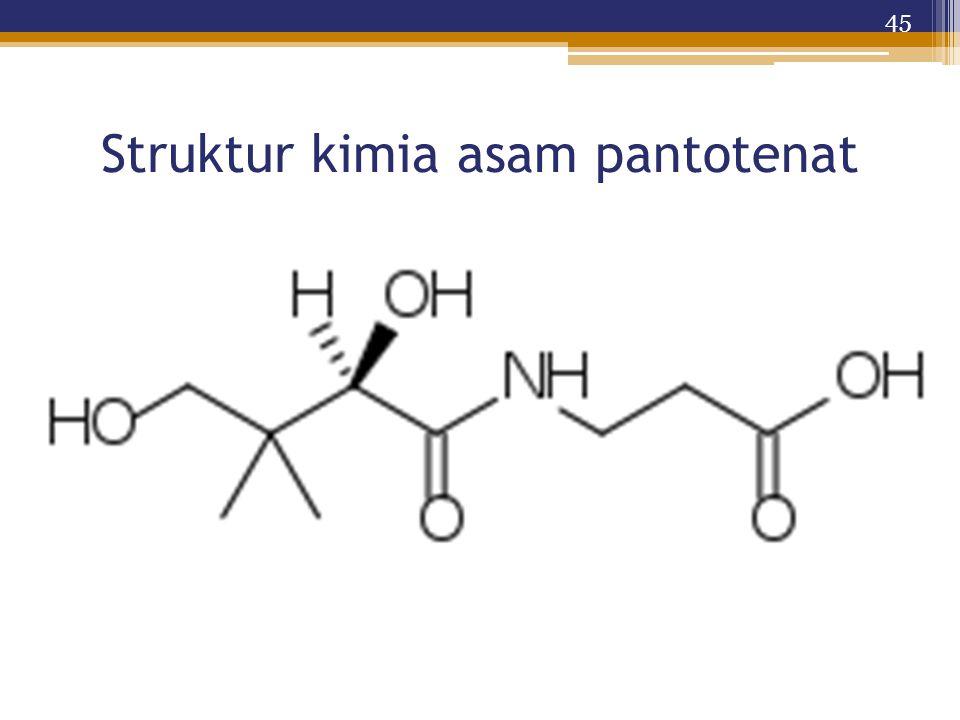 Struktur kimia asam pantotenat 45