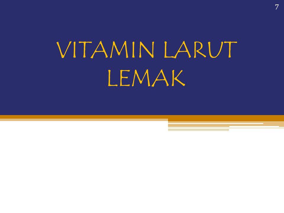 b.Vitamin B2 (Riboflavin) Riboflavin mudah diserap tubuh dan berperan terutama sebagai kofaktor pada FAD dan FMN Berperan pada berbagai proses dalam sel dan metabolisme energi dari karbohidrat, lemak, dan protein Sumber: susu, keju, sayuran berdaun, hati, kacang-kacangan, tomat, janur, khamir Riboflavin rusak oleh cahaya 38