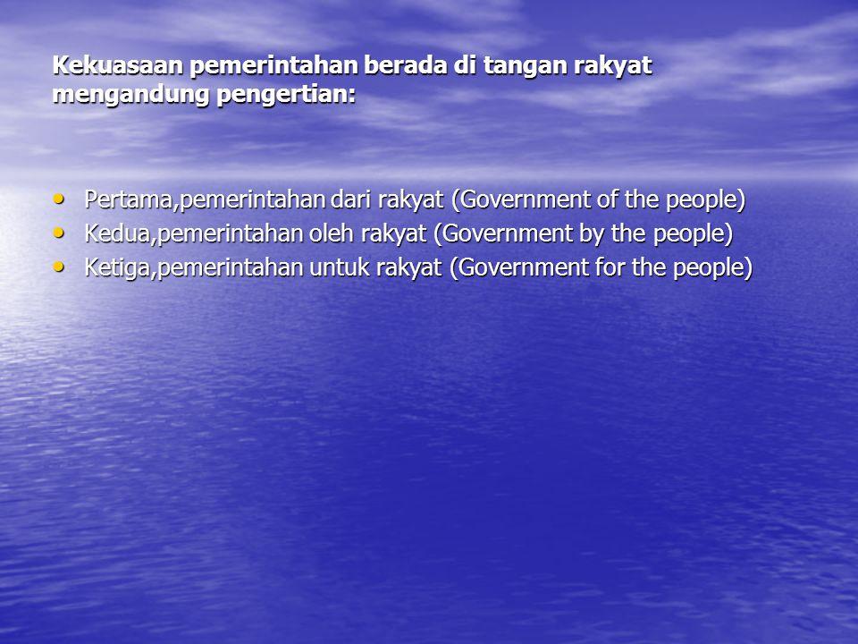 C.Demokrasi Konstitusional Setelah Gerakan 30 September tahun 1965 timbul Era orde Baru sampai tahun 1998 saat munculnya reformasi.
