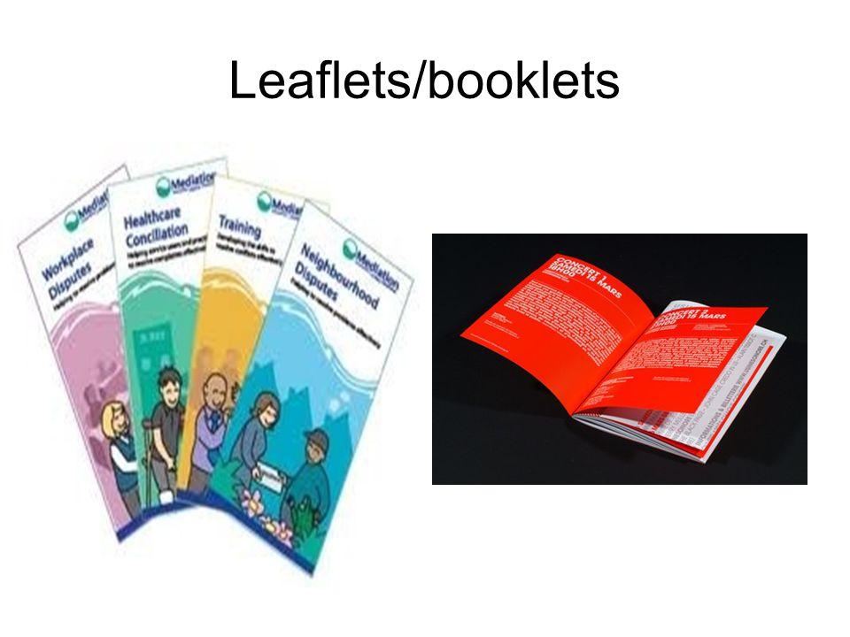 Leaflets/booklets