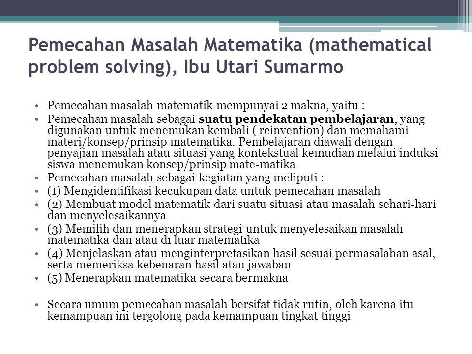 Tahapan-tahapan Pembelajaran Berbasis Masalah Merumuskan masalah, yaitu langkah siswa menentukan masalah yang akan di-pecahkan Menganalisis masalah, y