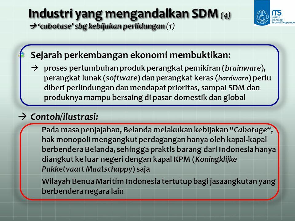 Industri yang mengandalkan SDM (4)  'cabotase' sbg kebijakan perlidungan Industri yang mengandalkan SDM (4)  'cabotase' sbg kebijakan perlidungan (1