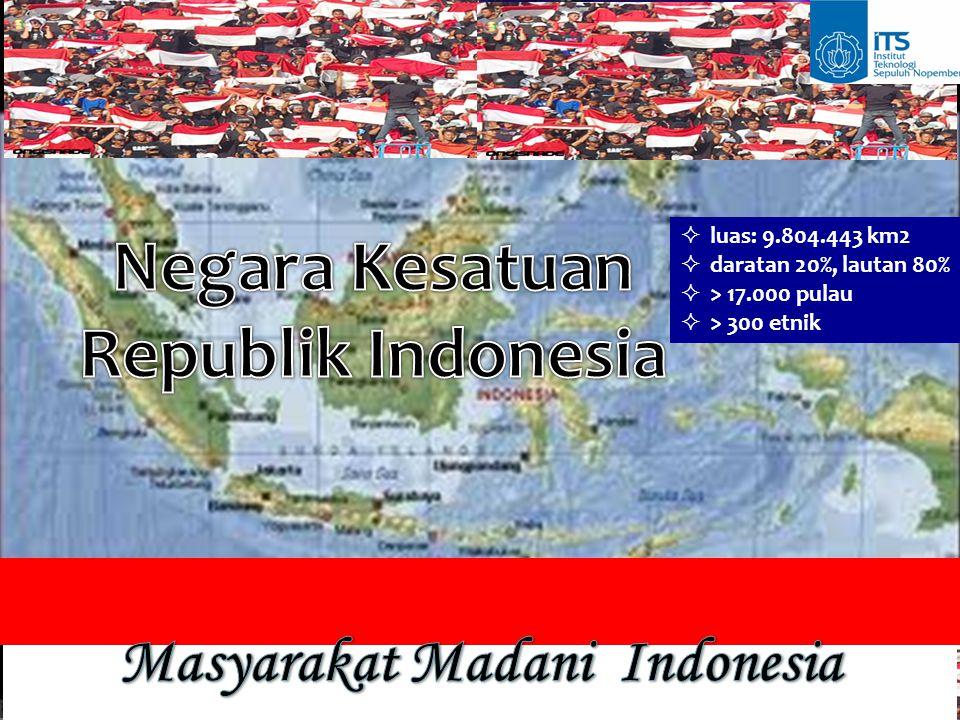  luas: 9.804.443 km2  daratan 20%, lautan 80%  > 17.000 pulau  > 300 etnik