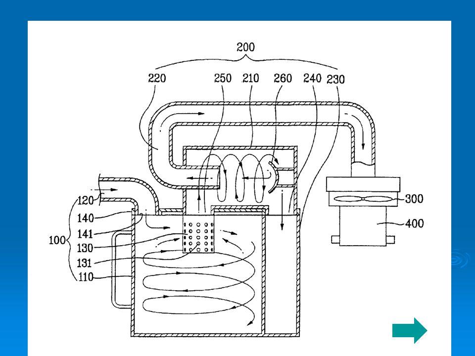 Komponen Cyclone Cyclone atau centrifugal separator adalah dust collector yang prinsipnya terdiri dari: 1.Silinder vertikal dengan bagian bawah berbentuk corong (conical).