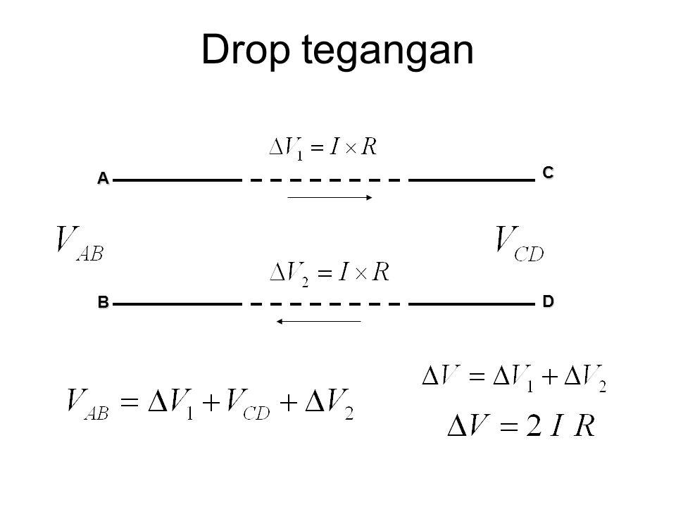 Drop tegangan A B C D