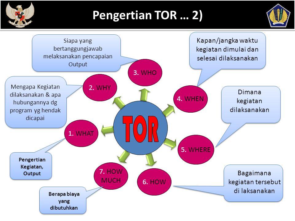 POKOK BAHASAN 5 Fungsi TOR  Alat bagi pimpinan untuk melakukan pengendalian kegiatan yang dilakukan oleh bawahannya.