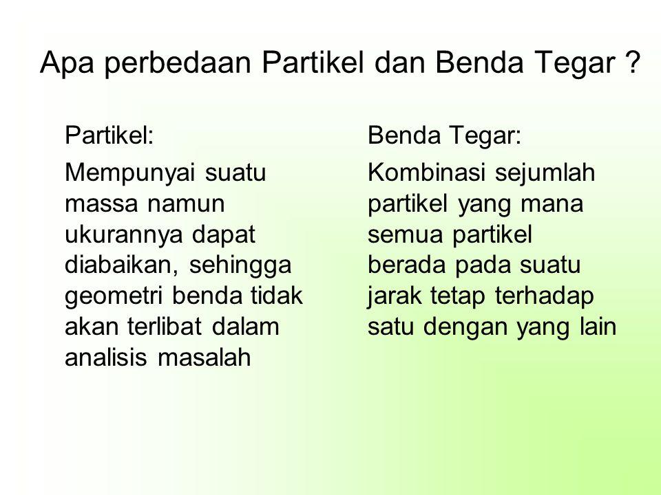 Apa perbedaan Partikel dan Benda Tegar .