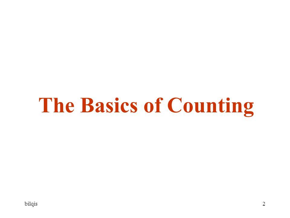 bilqis33 Bentuk umum prinsip rumah merpati (the Generalized Pigeonhole Principle) Jika N obyek ditempatkan dalam k kotak, maka paling sedikit satu kotak berisi paling sedikit  N/k  obyek Bukti (dengan kontradiksi) Asumsi: tidak ada kotak yang berisi lebih dari  N/k  -1 maka total obyek tidak lebih dari k (  N/k  -1) k (  N/k  – 1) < k ( ( N/k + 1) – 1) karena  N/k  < N/k + 1 k (  N/k  – 1) < k (N/k) atau total obyek < N Padahal total obyek = N Maka paling sedikit satu kotak berisi paling sedikit  N/k  obyek (terbukti)