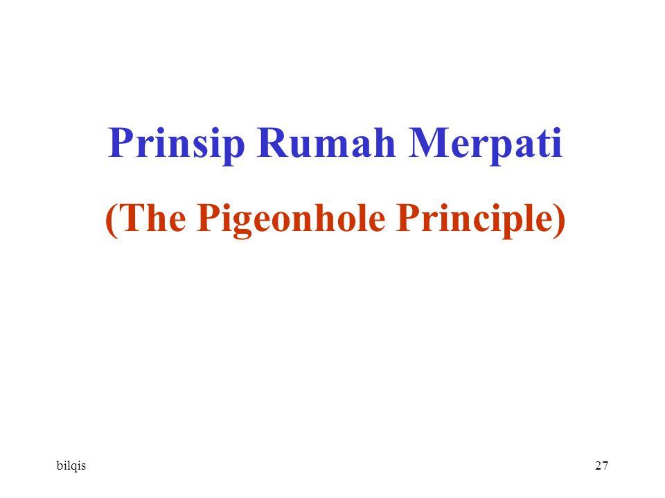 bilqis27 Prinsip Rumah Merpati (The Pigeonhole Principle)