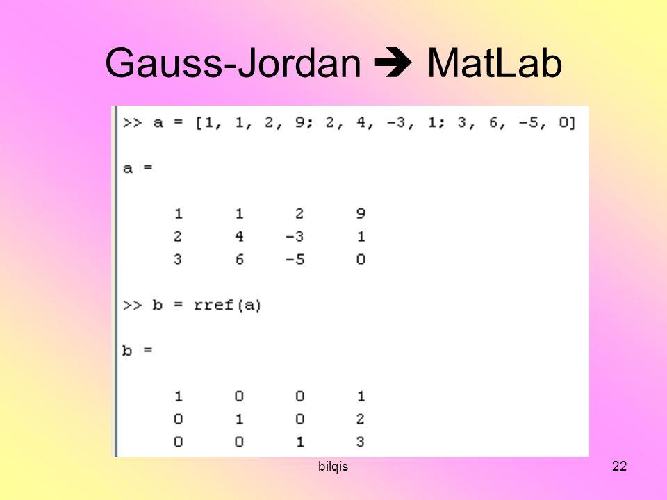 bilqis22 Gauss-Jordan  MatLab
