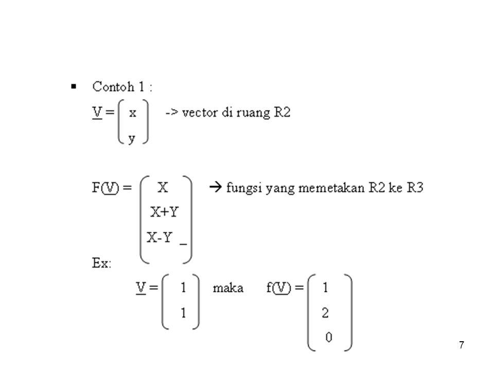 bilqis18 Pencerminan operator ilustrasi pencerminan terhadap sumbu-x persamaanmatriks standar w 1 = x = 1x + 0y 1 0 w 2 = – y = 0x + (–1)y 0 – 1 (x, y) (w 1, w 2 )
