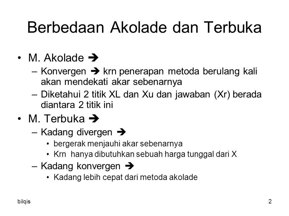 bilqis2 Berbedaan Akolade dan Terbuka M.