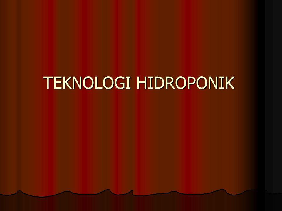 KARAKTERISTIK PRAKTISI HIDROPONIK: KARAKTERISTIK PRAKTISI HIDROPONIK: 1.