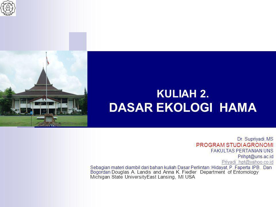 KULIAH 2.DASAR EKOLOGI HAMA Dr.