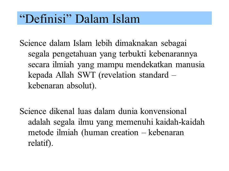 """Definisi"" Dalam Islam Kata Islam setelah Ekonomi dalam ungkapan Ekonomi Islam berfungsi sebagai identitas tanpa mempengaruhi makna atau definisi ekon"