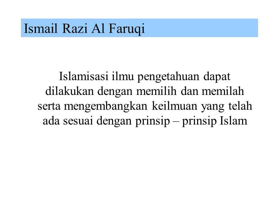 Islamization of Knowledge Islamization of Knowledge Syed Muhammad Naquib Al Attas Ziauddin Sardar Ismail Razi Al Faruqi