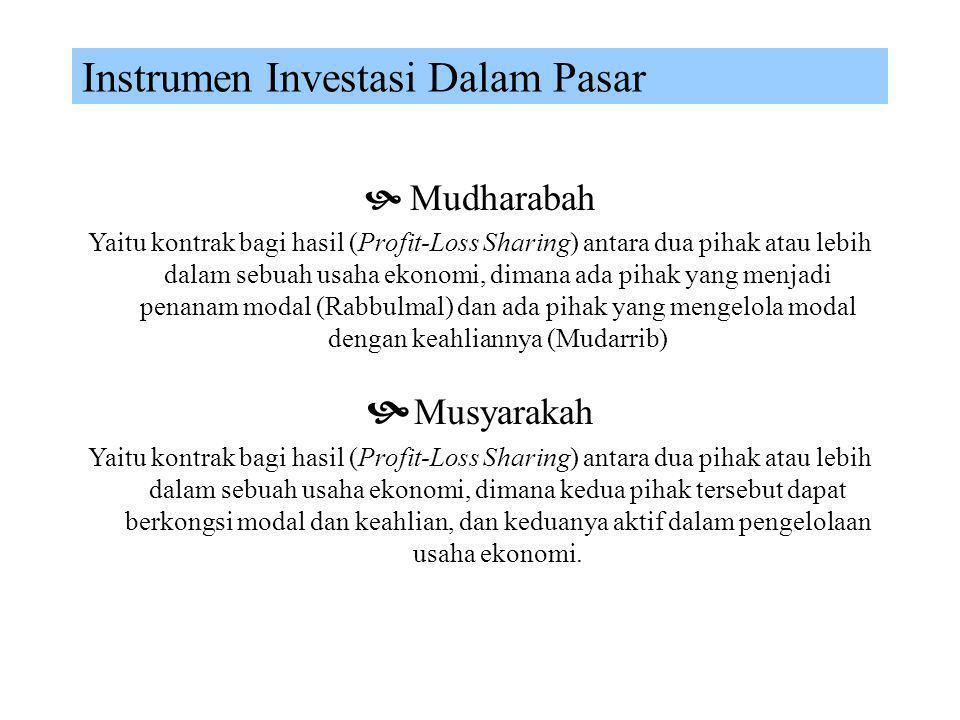 Kontrak Komersial (Jual-Beli) Murabahah Ijarah Istisna' Salam Rahn Mudharabah Musyarakah
