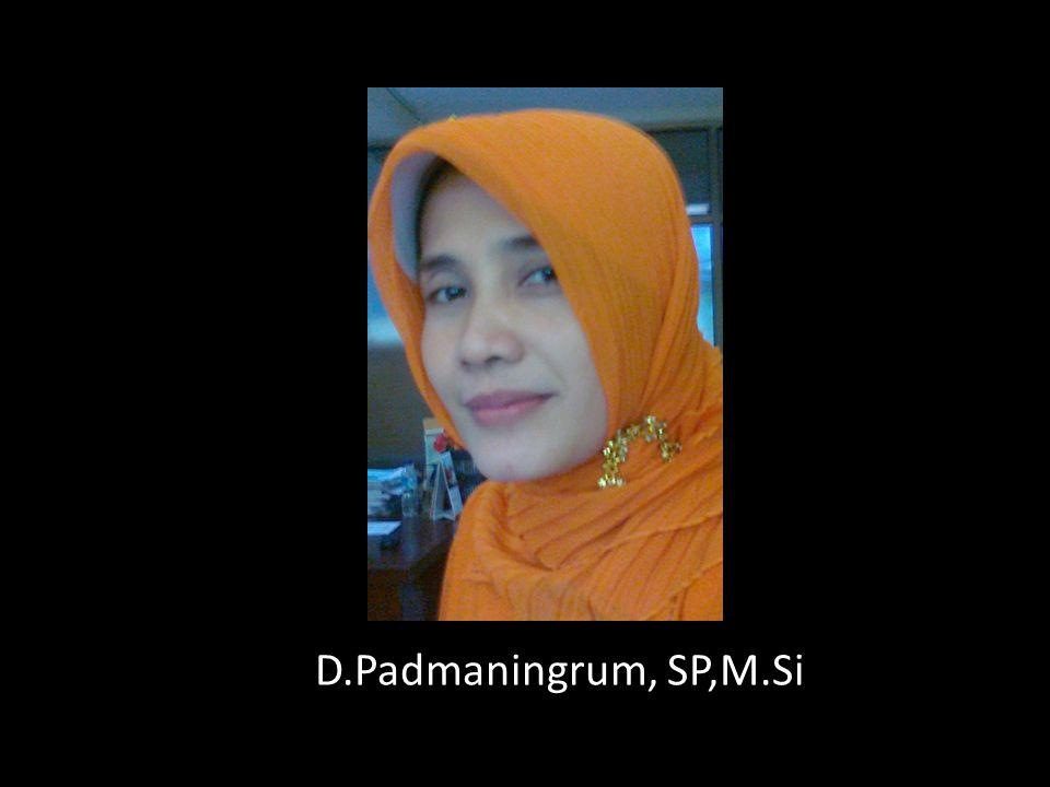 D.Padmaningrum, SP,M.Si