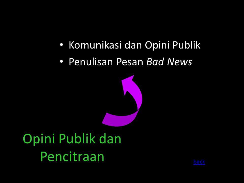 Komunikasi dan Opini Publik Penulisan Pesan Bad News Opini Publik dan Pencitraan back