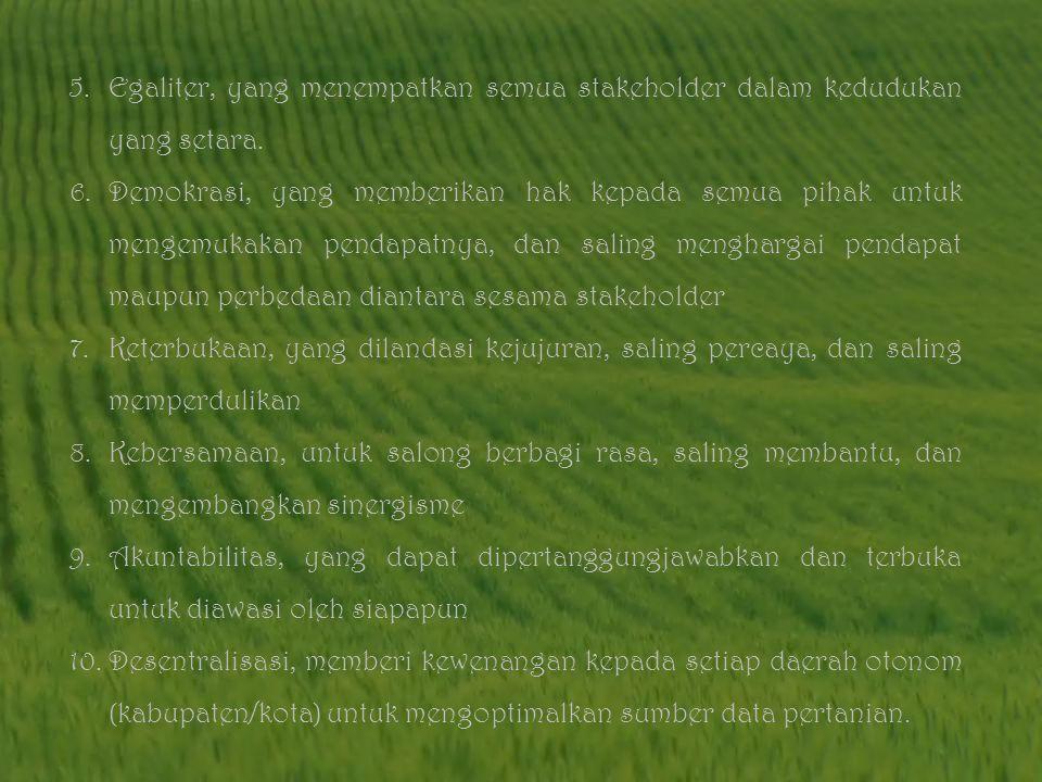 Terkait dengan pergerseran kebijakan pembangunan pertanian dari peningkatan produktivitas usaha tani ke arah pengembangan agribisnis, dan di pihak lai