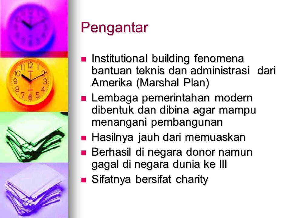 Pengantar Institutional building fenomena bantuan teknis dan administrasi dari Amerika (Marshal Plan) Institutional building fenomena bantuan teknis d