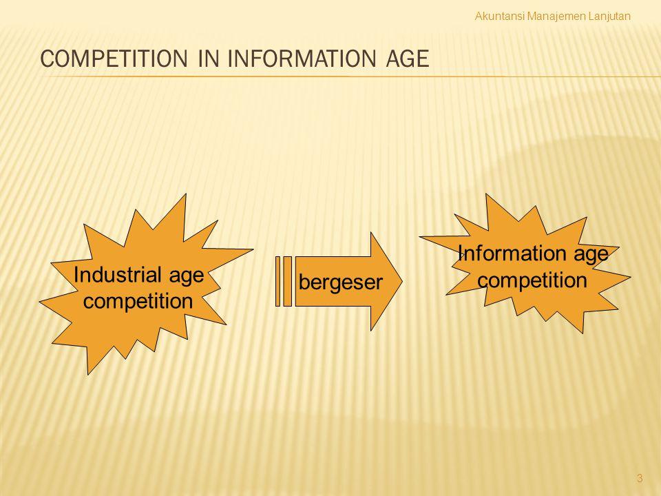 COMPETITION IN INFORMATION AGE Industrial age competition Information age competition bergeser Akuntansi Manajemen Lanjutan 3