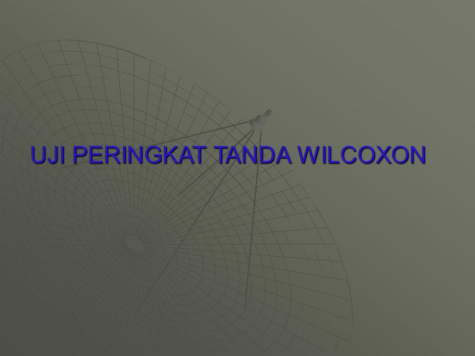 UJI PERINGKAT TANDA WILCOXON